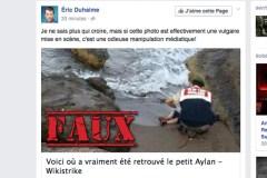 Non, ceci n'est pas la preuve que la photo d'Aylan Kurdi a été mise en scène