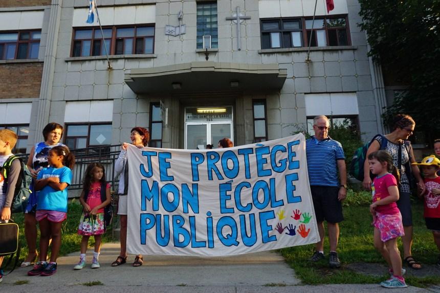 Les parents de Verdun à la défense de l'école publique