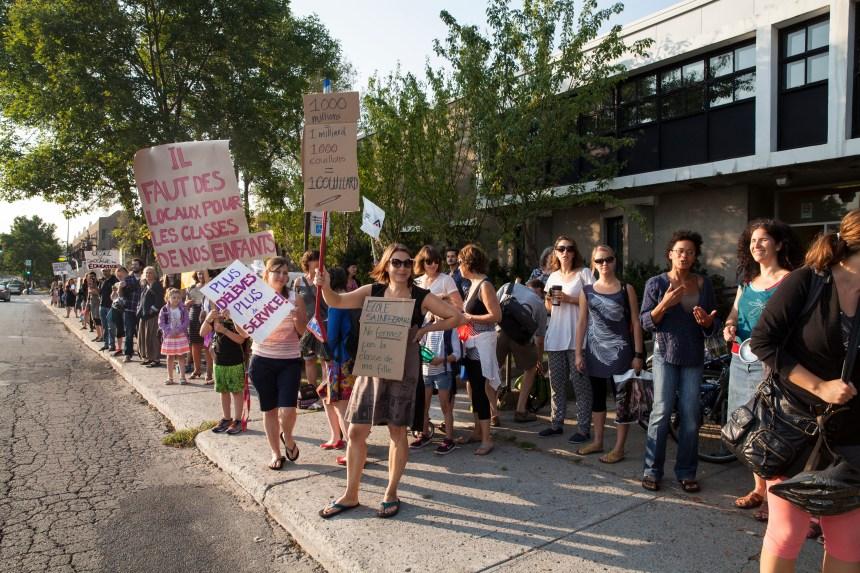 «Je protège mon école publique», les élèves de Villeray «méritent mieux»