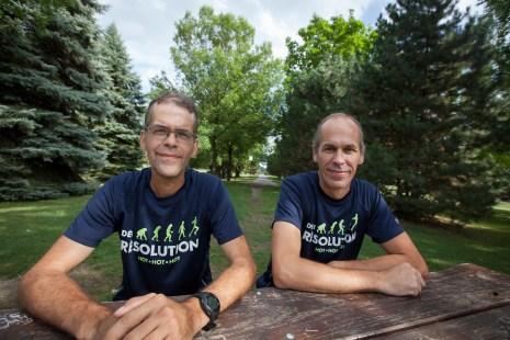 Deux frères vont courir le marathon de Montréal en mémoire de leur père décédé suite à une maladie de reins. Il ramasse aussi des fond pour la recherche de l'hôpital Maisonneuve-Rosemont.