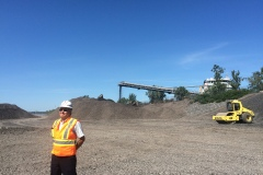 Derniers préparatifs en vue de la construction du pont Champlain