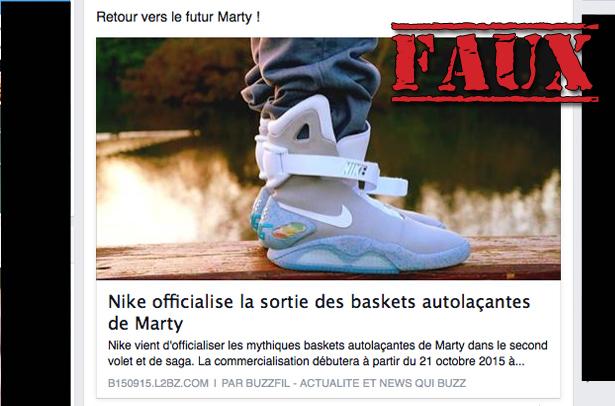 outlet store 60a1a c69da Oui, Nike officialisé la sortie des chaussures de Marty McFly dans Retour  vers le futur