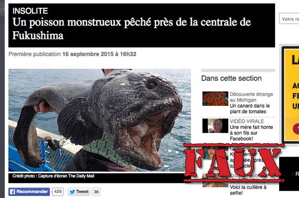 Non, ceci n'est pas un poisson radioactif de Fukushima