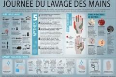 Infographie: Journée du lavage des mains
