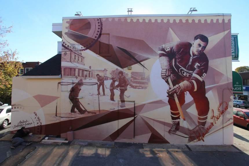 Une murale en hommage à Maurice Richard à Ahuntsic