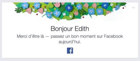 Bonjour Edith Merci d'être là