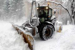 Le chargement de la neige pourrait durer jusqu'en début de semaine prochaine