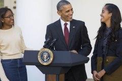 Barack Obama fait une blague sur la dinde de Thanksgiving