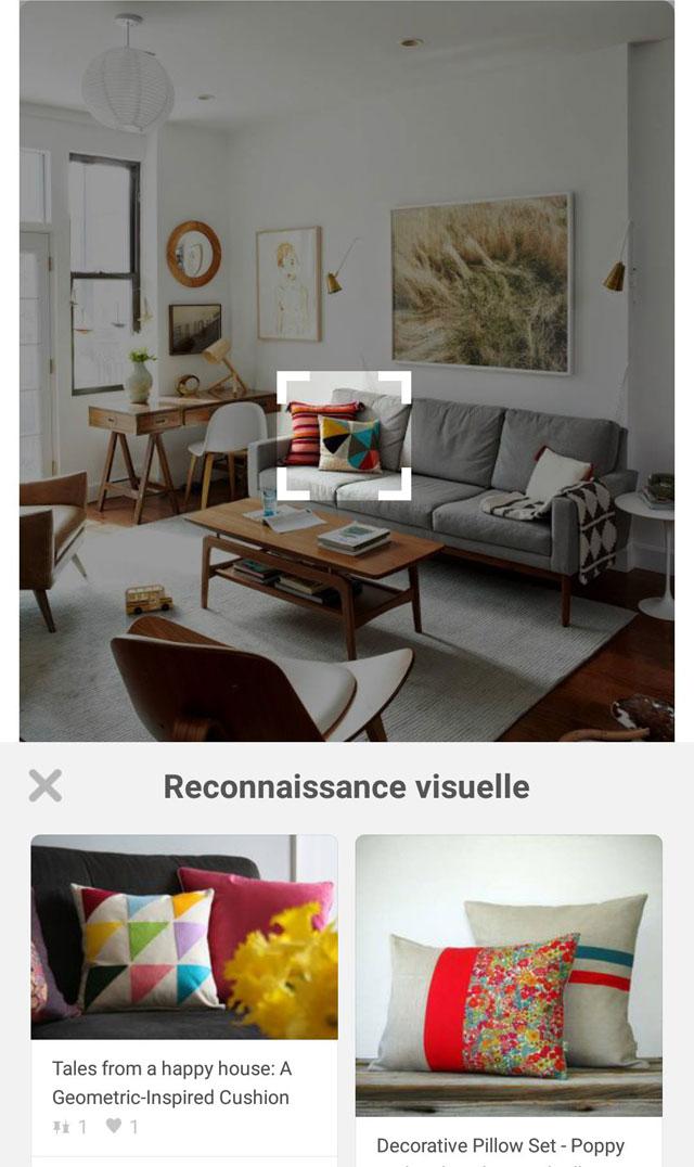 Pinterest outil reconnaissance visuelle