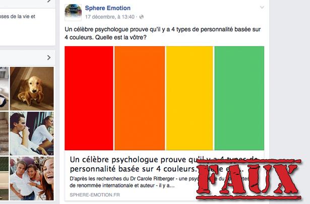 Non, ce «test des couleurs» n'a pas été mis au point par une «célèbre psychologue»
