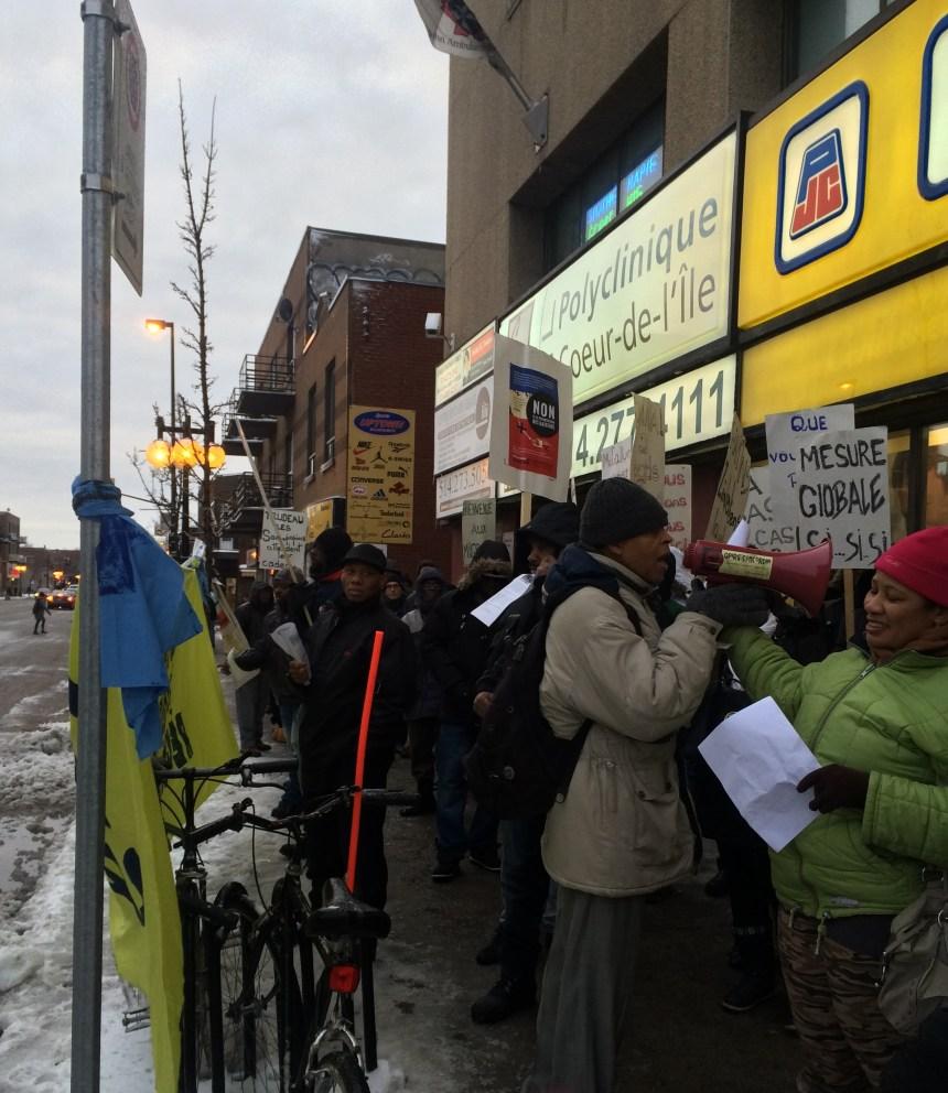 Les Haïtiens de Montréal-Nord et Rivière-des-Prairies manifestent pour éviter l'expulsion