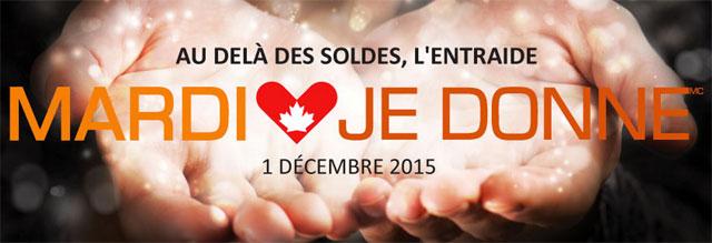 Le 1er décembre est la journée «Mardi je donne»