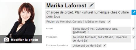Marika Laforest Linkedin