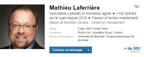 Mathieu Laferriere Linkedin