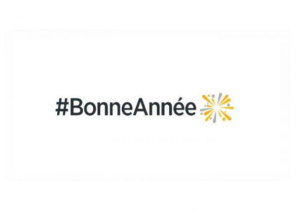 Un emoji pour souhaiter la bonne année sur Twitter