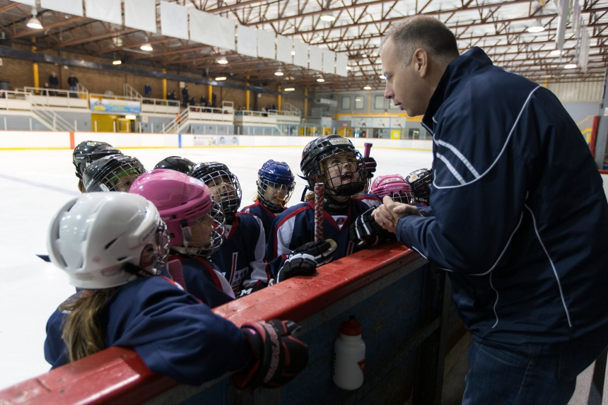 Only all-girls novice hockey team in Montreal builds confidence and skills