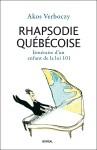 Couverture Rhapsodie québécoise_AVerboczy_Boréal 2016