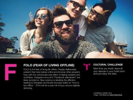 FOLO - Fear of living offline