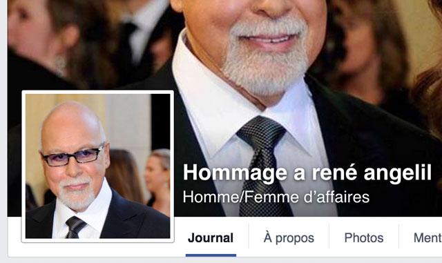 Une page Facebook profite de la mort de René Angélil pour gagner des «j'aime»