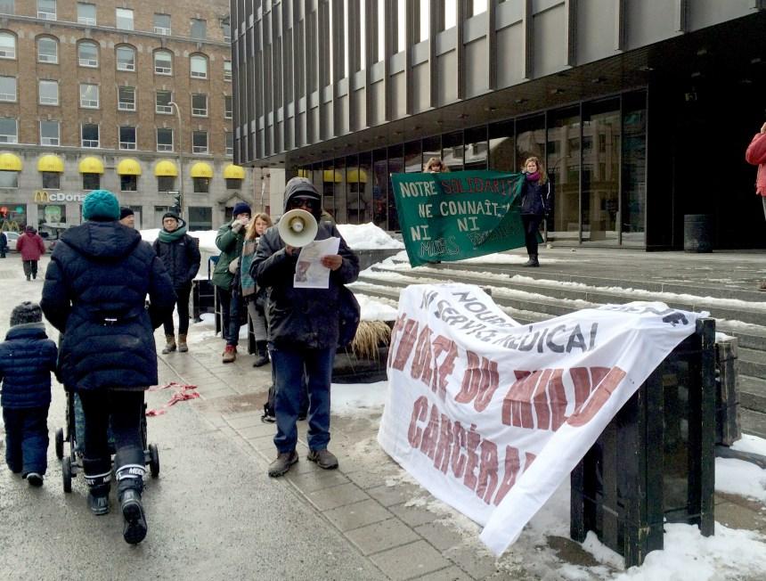 Un rassemblement pour dénoncer la fermeture de la prison Tanguay