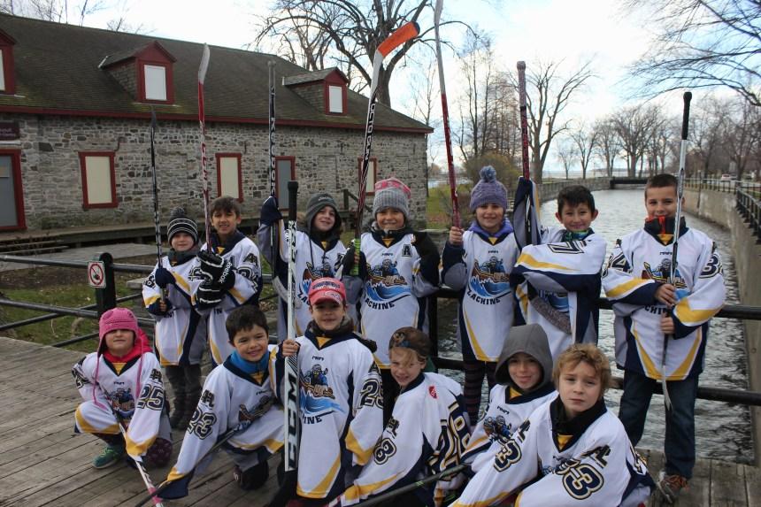 Lachine novice hockey team plays on Habs ice