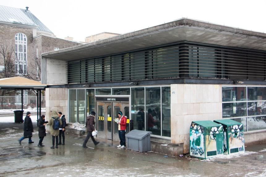 Chicane autour de la station Mont-Royal