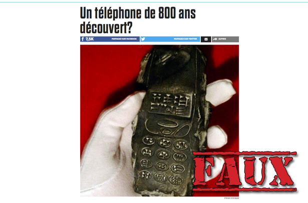 Non, un téléphone vieux de 800 ans n'a pas été découvert