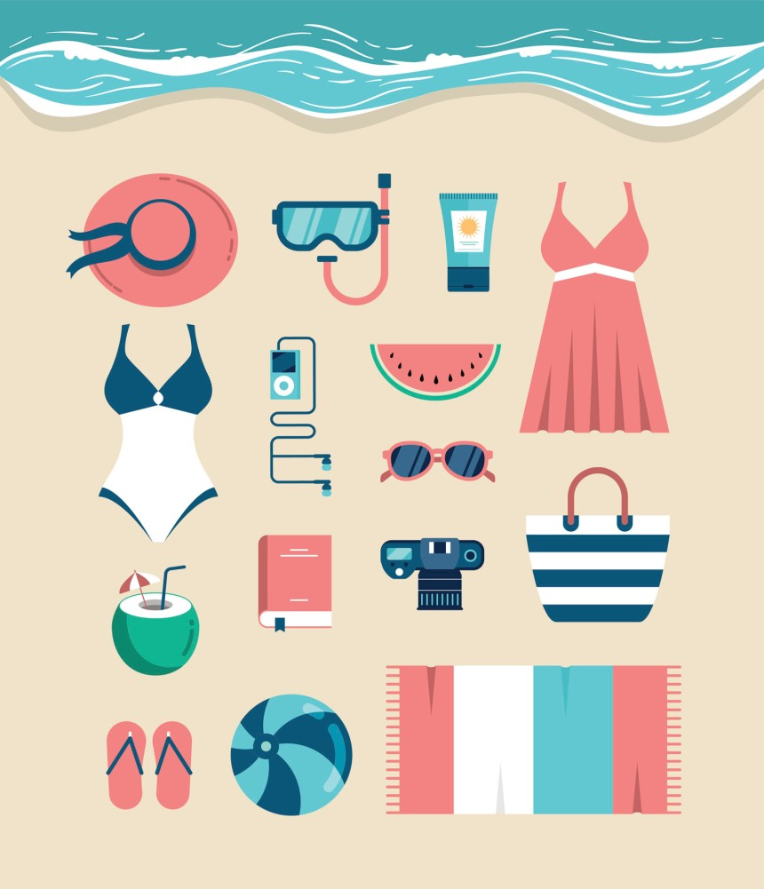 La valise pour les vacances
