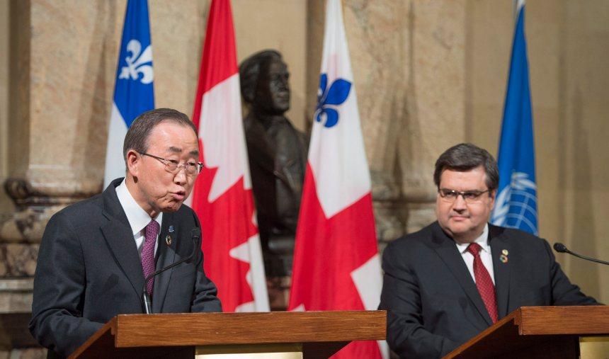 En visite à Montréal, Ban Ki-moon lance une flèche au gouvernement Harper