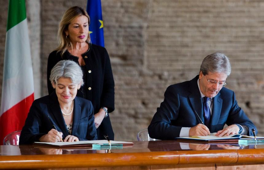 L'Italie s'associe à l'Unesco pour protéger la culture face aux djihadistes