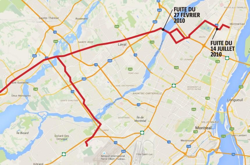 Reprise de service du pipeline menant à l'aéroport Trudeau