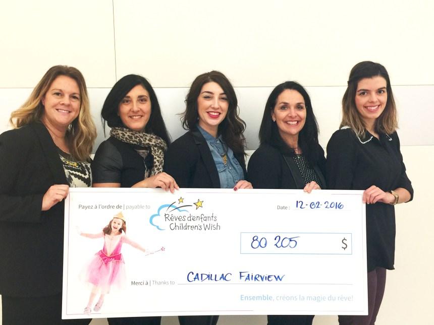 Un cadeau de plus de  80 000$ pour la Fondation Rêves d'enfants