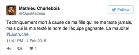 Tweet Mathieu Charlebois