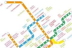 Cette carte dévoile les endroits les plus romantiques de Montréal par station de métro