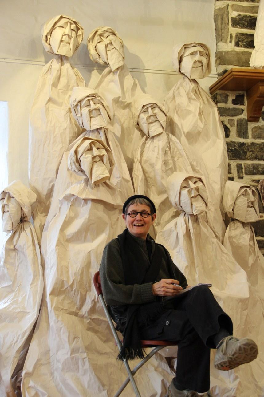 Sculptures sur papier à la maison de la culture