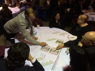Des participants ont partagé leurs priorités dans le dossier du réaménagement de la rue Jean-Talon.