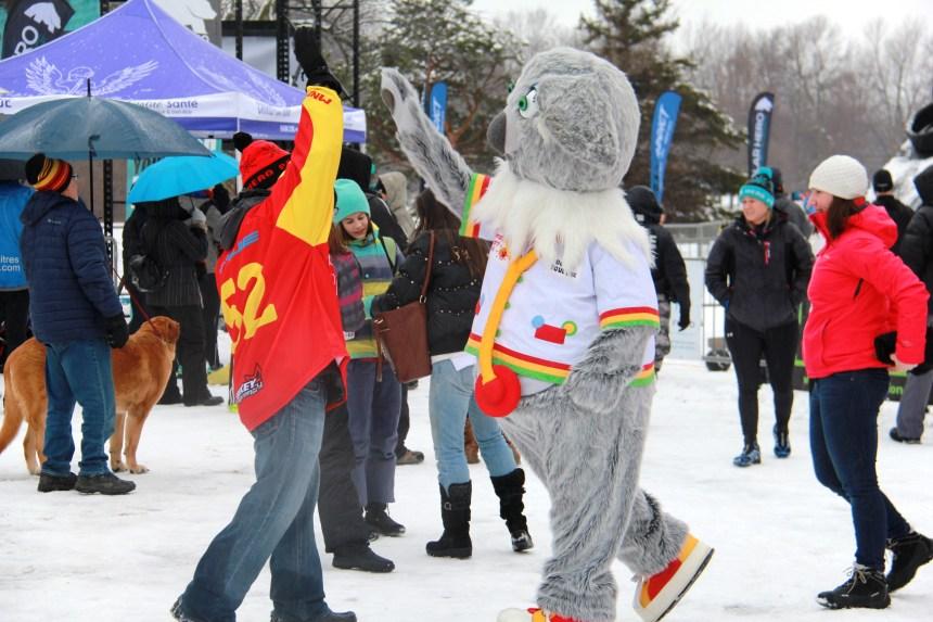 Des centaines de participants à la course Polar Hero