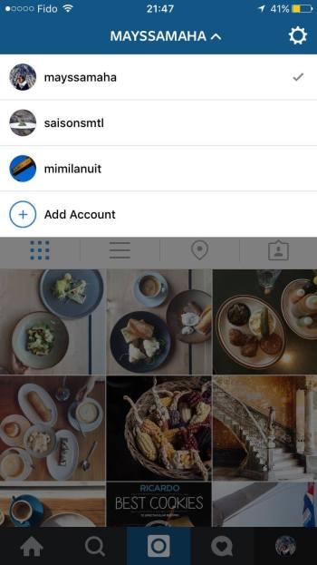 Instagram Comptes multiples