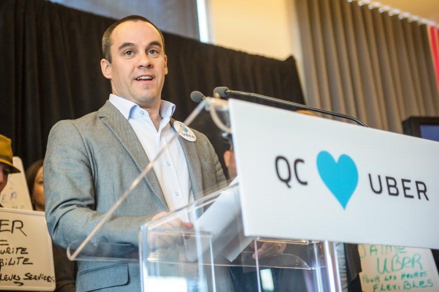 Le patron d'Uber au Québec quitte son poste