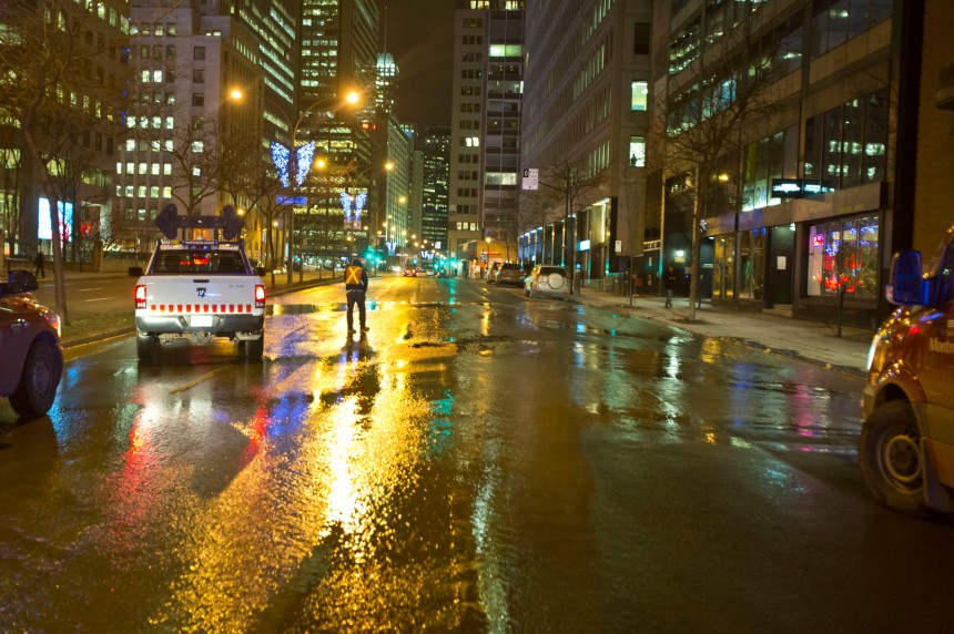 Montréal continue de perdre des milliards de litres d'eau potable