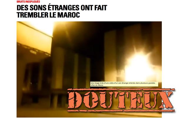 «Bruits non identifiés» au Maroc: des «preuves» fabriquées de toutes pièces
