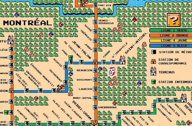 La carte du métro de Montréal revisitée en jeu vidéo