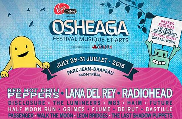 Dévoilement de la programmation du festival Osheaga 2016