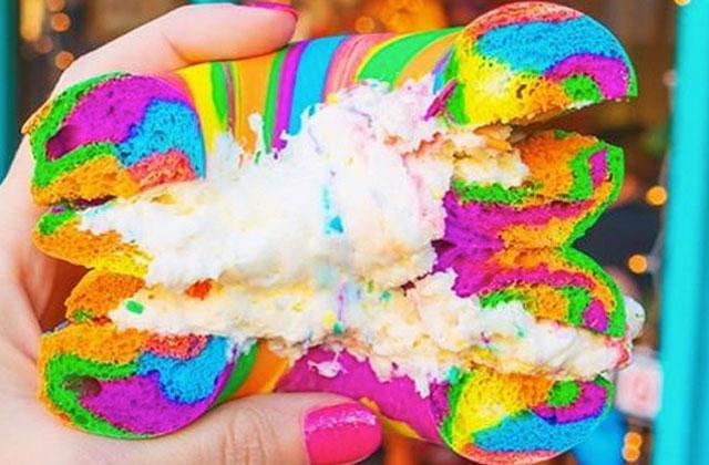 Tendance bouffe: les bagels multicolores