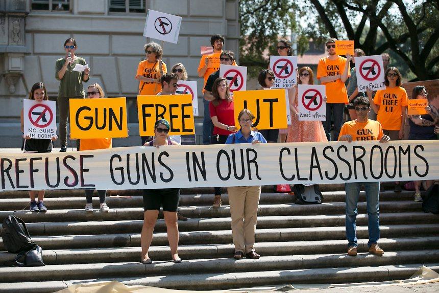 L'Université du Texas autorise les armes de poing rangées dans ses classes