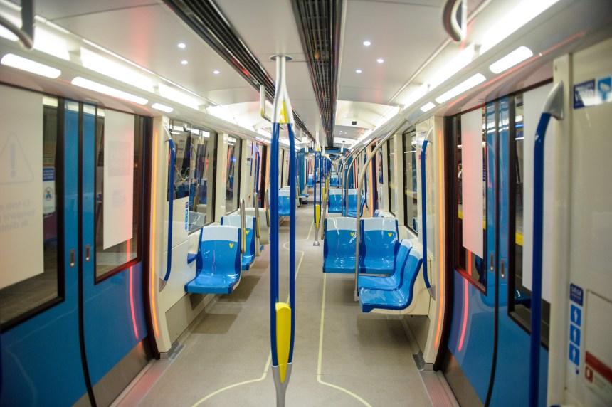 Où trouve-t-on des voitures de métro semblables aux Azur?