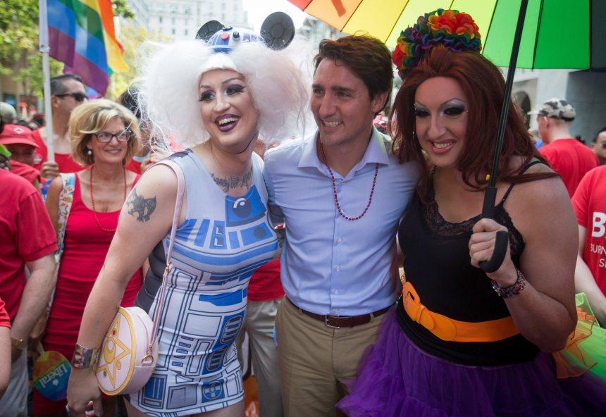 Justin Trudeau au défilé de la fierté gaie de Toronto