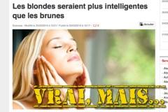 Une étude a-t-elle prouvé que les blondes sont plus intelligentes que les autres?