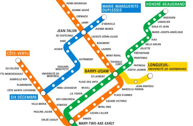 Des Animatrices De Cism Ont Imagine Une Carte Du Metro De Montreal Paritaire