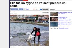 Non, une touriste bulgare n'a pas tué un cygne en prenant un selfie